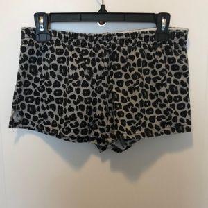 Cute gray and black leopard print comfy shorts